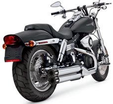Staggered Dual Slip-On Mufflers