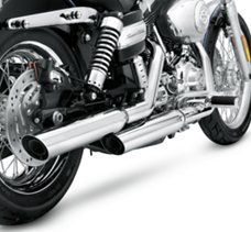 Shorty Dual Slip-On Mufflers