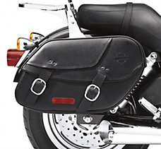 Bar & Shield Leather Saddlebags