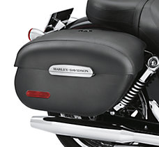 Rigid Locking Leather Saddlebags