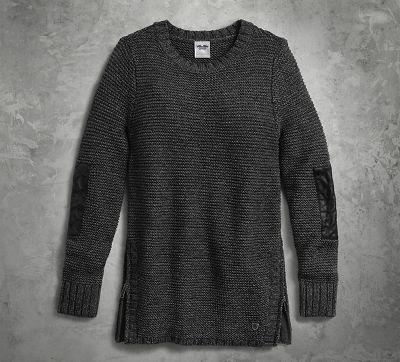 Side Zip Large Gauge Knit Sweater