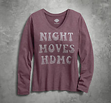 Night Moves V-Neck Tee
