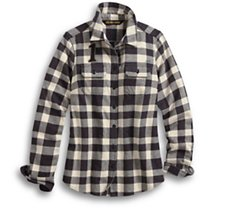 Studded Logo Buffalo Check Shirt