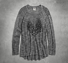 Winged Loose Weave Sweater