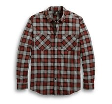 Shoulder Graphic Plaid Shirt