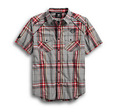Piping Accent Plaid Shirt