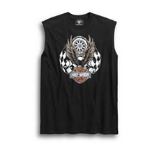 Checkered Flag Eagle Muscle Tee