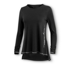 Metallic Accents Long Sleeve Tee