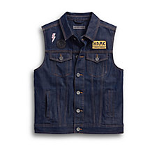 Loud & Proud Slim Fit Denim Vest
