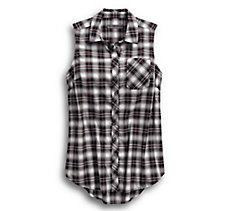 HDMC Sleevless Plaid Shirt