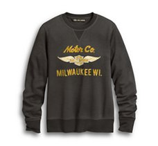 Winged Logo Motor Co. Pullover