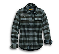 Winged Logo Patch Plaid Shirt
