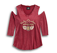 Winged H-D Cold Shoulder Top