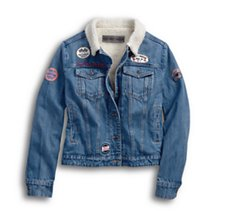 Sherpa Fleece Denim Jacket