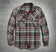 Double Cloth Plaid Shirt
