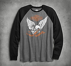 Eagle Raglan Sleeve Slim Fit Tee