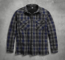 Plaid Quilted Shirt Jacket with ...
