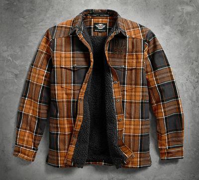 Sherpa Fleece Lined Shirt Jacket