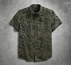 Printed Camo Slim Fit Shirt