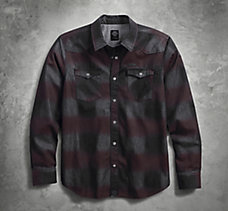 Printed Plaid Slim Fit Shirt