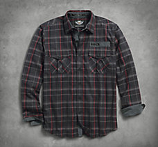 Corduroy Trim Plaid Shirt