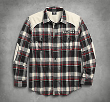 Elbow Patch Flannel Shirt