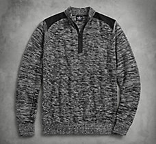 Wool Blend 1/4-Zip Sweater