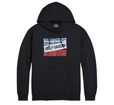 H-D Bars & Stars Pullover Hooded