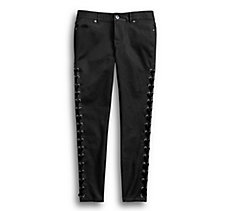 Side Laced Stretch Skinny Pant