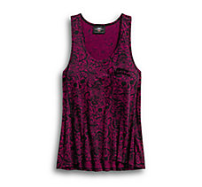 Allover Patterned Burnout Tank