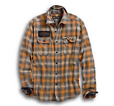 Flocked Eagle Slim Fit Plaid
