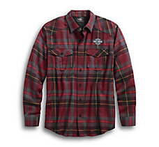 High Density Print Plaid Shirt