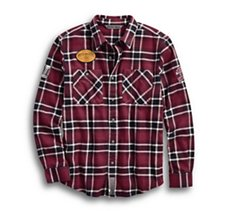 Multi-Patch Slim Fit Plaid Shirt