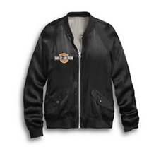 Reversible Tiger Satin Bomber
