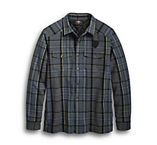 Snap-Front Plaid Shirt Jacket