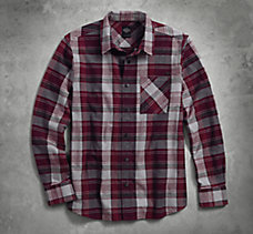 Plaid Zippered Pocket Shirt