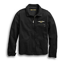 Winged Logo Slim Fit Jacket