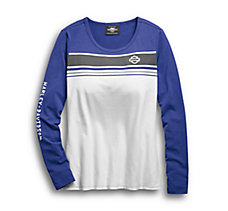 Chest Stripe Long Sleeve Tee