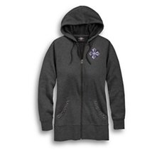 Winged Cross Full Zip Hoodie