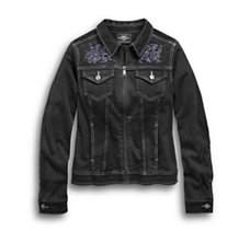 Rose Black Denim Jacket