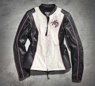 Pink Label Mandarin Leather Jacket