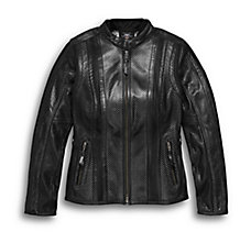 Venos Perforated Leather Jacket