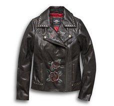 Roses & Studs Leather Biker
