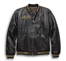 Leander Slim Fit Leather Bomber