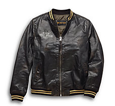Chalette Leather Bomber Jacket