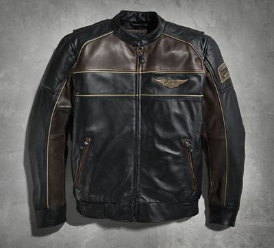 Hex Head Leather Bomber Jacket