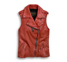 Biker Zip Leather Vest