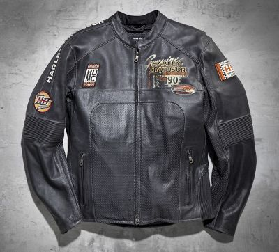 Regulator Perforated Leather Jacket