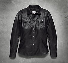 Melrose Leather Shirt Jacket