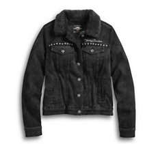 Sherpa Fleece Lined Denim Jacket